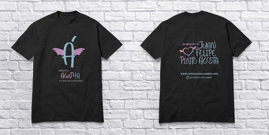 Camiseta - Proyecto Ágatha en Homenaje al legado de Juan Felipe Pinto Acosta